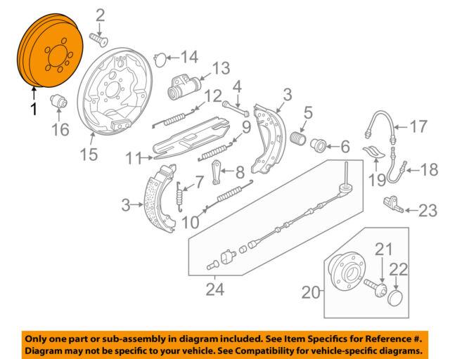 Volkswagen 5C0609617A Genuine OEM Brake Drum for sale online eBay
