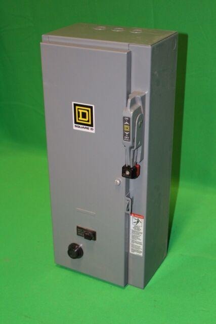 Square D Size 0 FVNR Combination Starter Circuit Breaker Disconnect