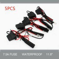 5Pcs Car Battery Charger Cable/Wire Ring Terminal Harness ...
