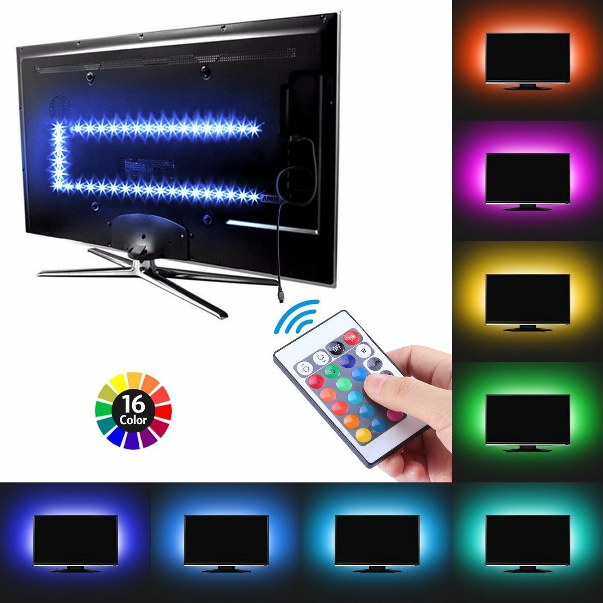 Led Light Strips Rgb Details Zu Tv Backlight Light Kit Usb Led Lights Strips 5050 Rgb Bias Lighti For Hdtv Pc Hi
