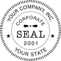 SELF-INKING ROUND CORPORATE BUSINESS COMPANY LOGO SEAL ...