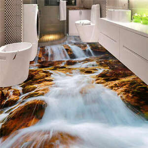3d Floor Wallpaper Murals White Waterfall Rocks 3d Floor Mural Photo Flooring