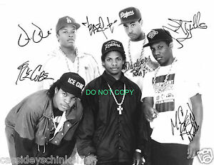 Money Quotes Wallpaper Nwa N W A Reprint Signed Group Photo 2 Straight Outta