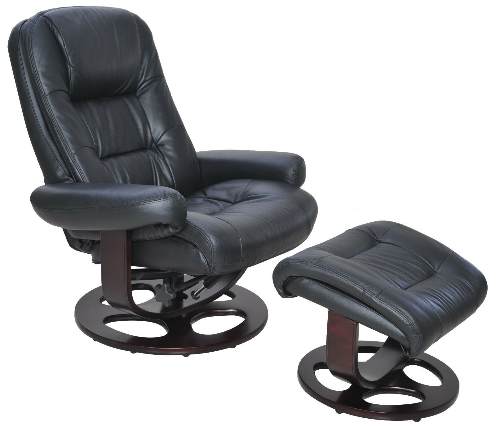 Leather Recliner Chair With Ottoman Barcalounger Jacque Pedestal Leather Recliner Chair And Ottoman