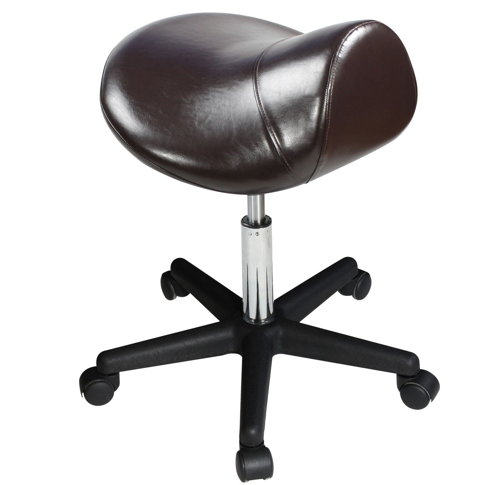 Saddle Office Chair Master Saddle Stool Hydraulic Ergonomic Office Massage Rolling Chair Black