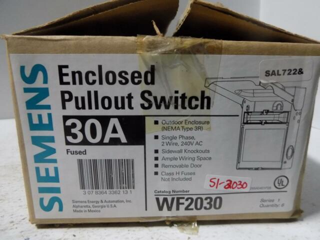 Buy Siemens WF2030 30 Amp Fusible AC Disconnect online eBay