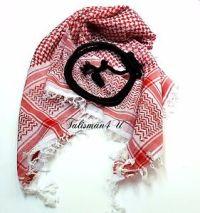 SHEMAGH SCARF Keffiyeh Red Jordanian Kafiya Arab Checkered ...