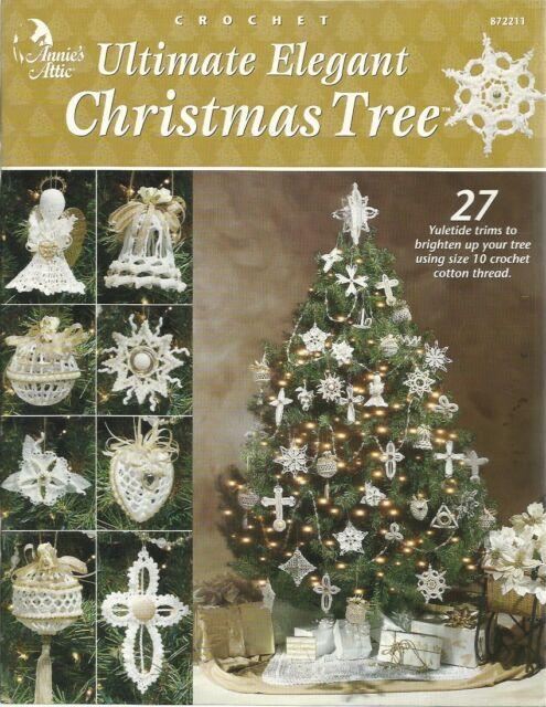 Annie\u0027s Attic Crochet Ultimate Elegant Christmas Tree Pattern Book