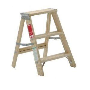24quot Mini 2 Step Wood Ladder Stool Ebay
