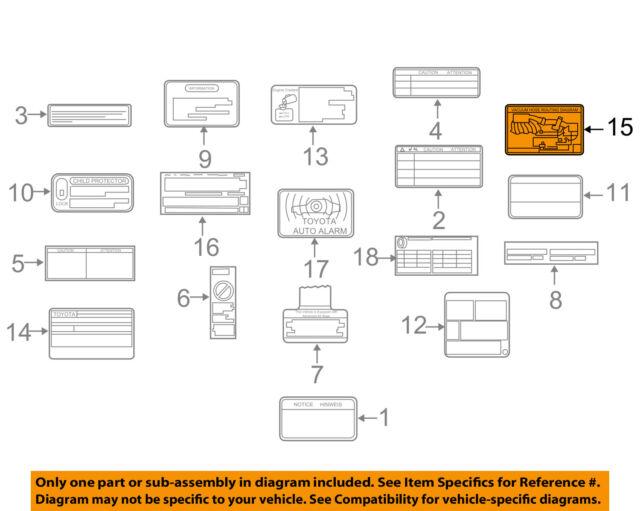Toyota OEM 07-09 Camry Labels-vacuum Diagram 177920h050