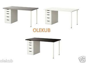 Ikea Linnmon Alex Table Different Colors Ebay