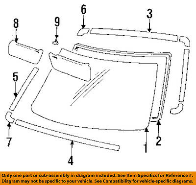 TOYOTA OEM 84-88 Pickup Windshield-Molding Trim Left 7553489105 eBay