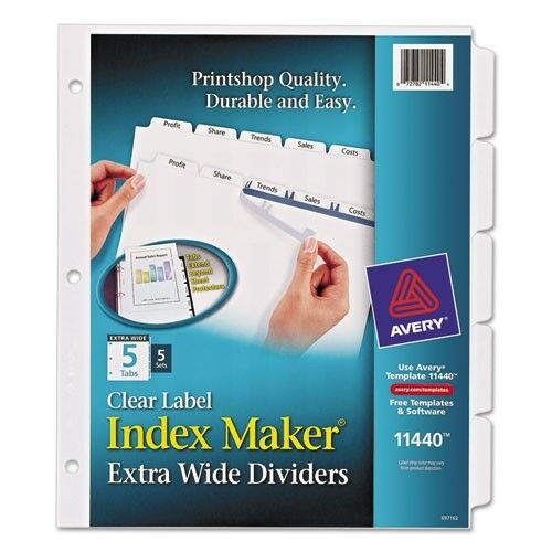 Avery Index Maker Clear Label Dividers Ave11440 eBay