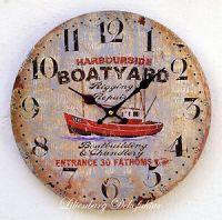 Maritime Deko Wanduhr maritim Bad Schiff Boot Wanddeko ...