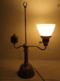 Vintage Brass Single Student Desk Lamp Electric Table Lamp