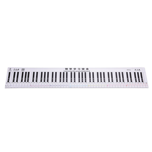 Practice Keyboard  Note Chart for Behind The Piano Keys for sale