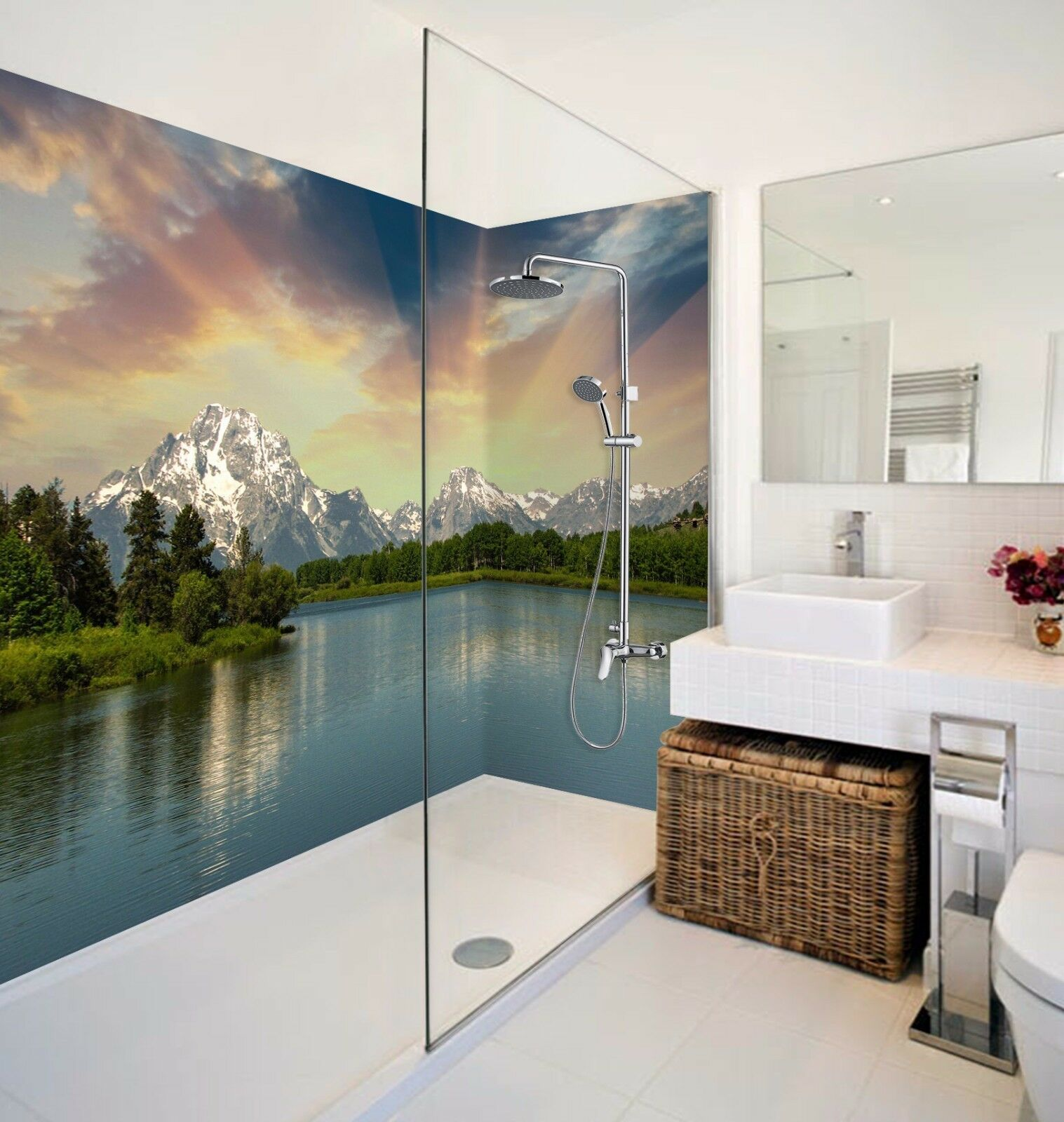 Wallpaper Murals For Bathrooms 3d Sunlight 7102 Bathroom Print Decal Wall Deco Wallpaper Au