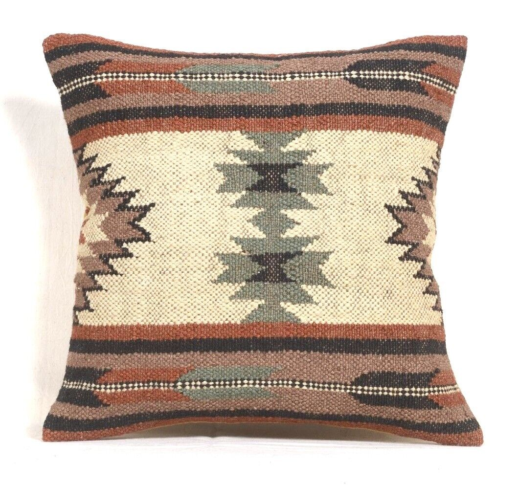 Vintage Collage Pacific Teppich 5 Kelim Pillow Case 18x18 Hand Woven Jute Rug Cushion Rustic