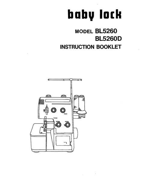 Baby Lock Serger 5260 BL 5260 BL 5260 D Instruction Manual Book eBay - instruction manual