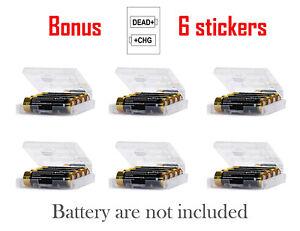 Aa Aaa Cell Battery Storage Case Holder Organizer Box