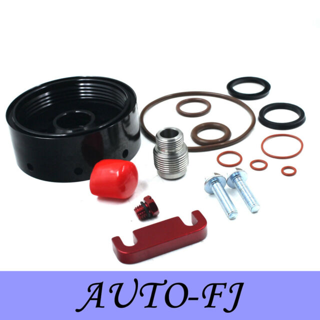 Red 2004 Cat Fuel Filter Adapter Spacer Seals Kit Bleeder for Chevy