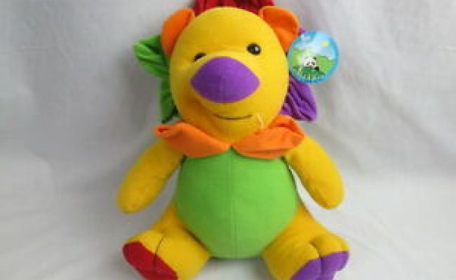 Peek A Boo Toy Rainbow Mane Lion Plush Stuffed Toy