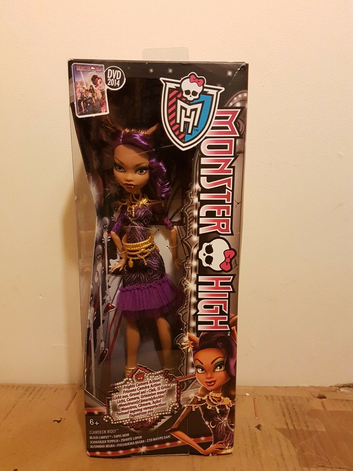 Teppich Monster High Monster High Bdf26 Frights Camera Action Clawdeen Wolf Black Carpet Doll