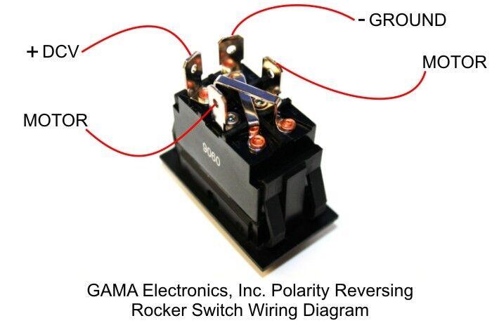 DC Momentary Motor Polarity Reverse Reversing Rocker Switch Control