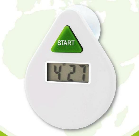 Ecosavers White 5 Minutes Drop Digital LCD Shower Coach Timer Water