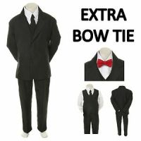 New Baby Toddler Boy Black Formal Wedding Party Suit ...