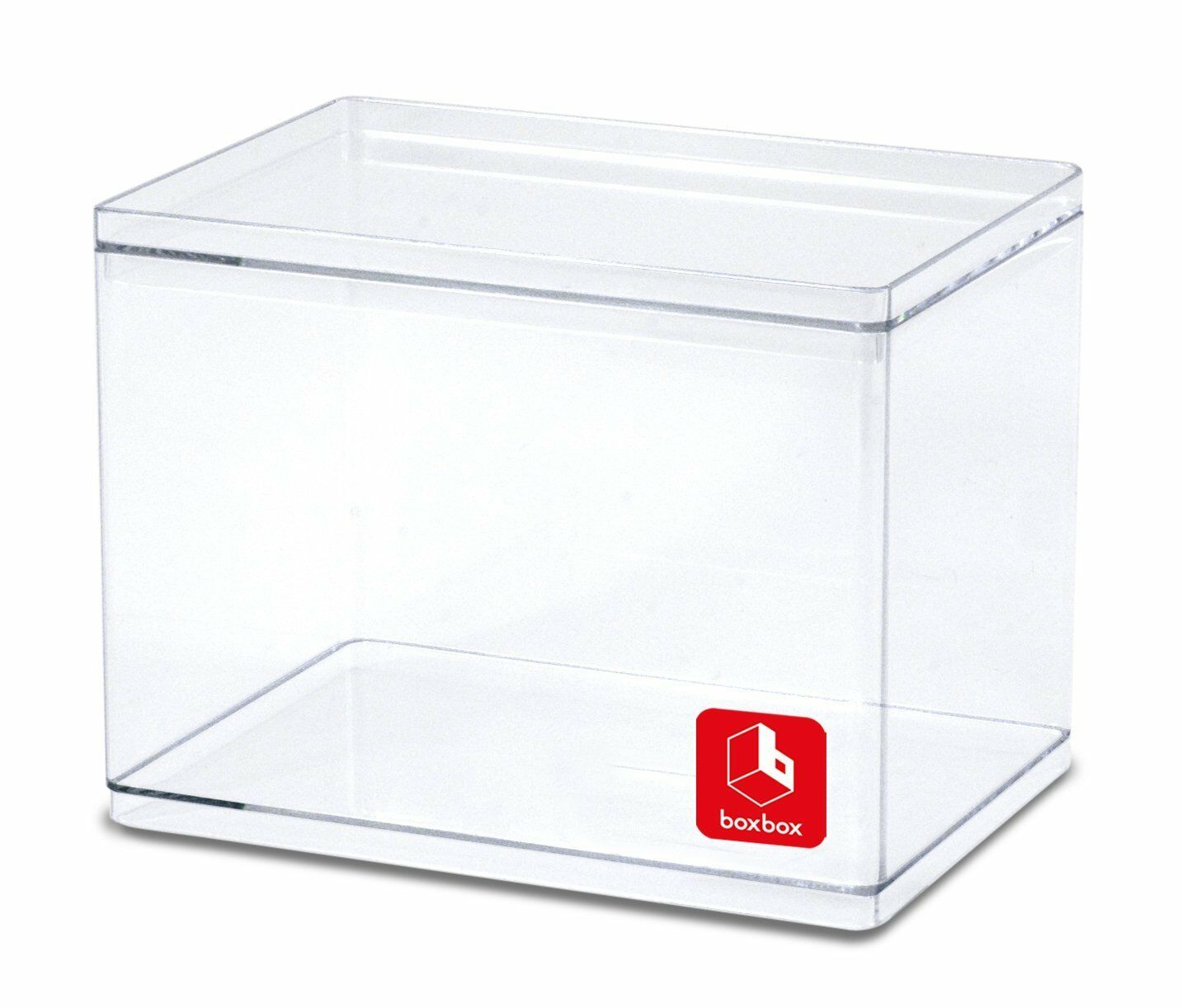 Clear Display Boxes 4pcs Set Hard Plastic Boxes Organizer Crystal Clear