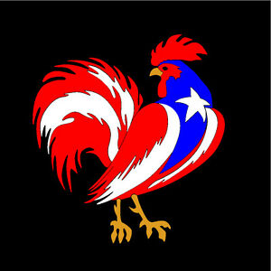 Ebay 3d Wallpaper Photo Puerto Rico Car Decal Sticker Gallo Rooster With Flag 178