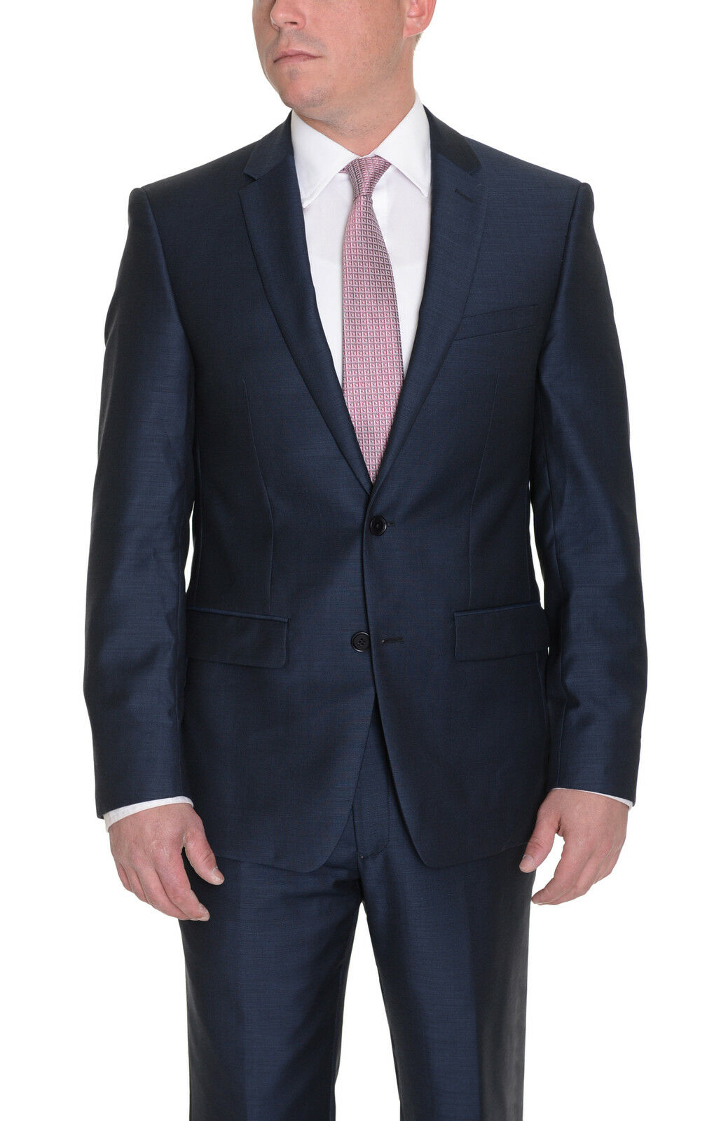 Dkny Bettwäsche Grau Dkny Skinny Blau Texturot Two Button Slim Fit Wool Suit