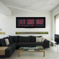 LED Wanduhr Digitaluhr mit Datum Temperatur Wohnzimmer ...