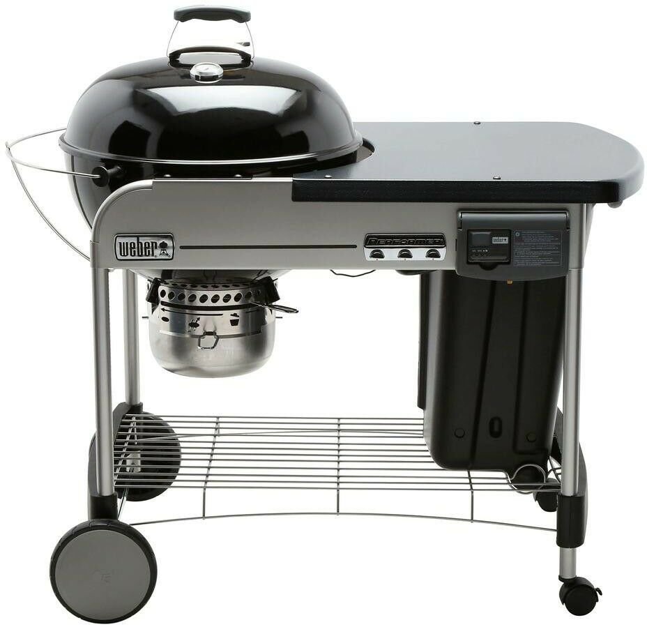 Weber Kettle Premium 57 Weber Performer Deluxe Charcoal Grill 15501001