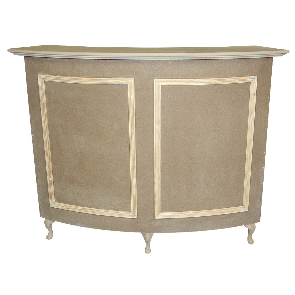 Salon Style Shabby Curved Reception Desk Cash Desk French Style Shabby Chic