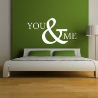 Wall Art Quote Sticker You and Me - Love inspirational ...