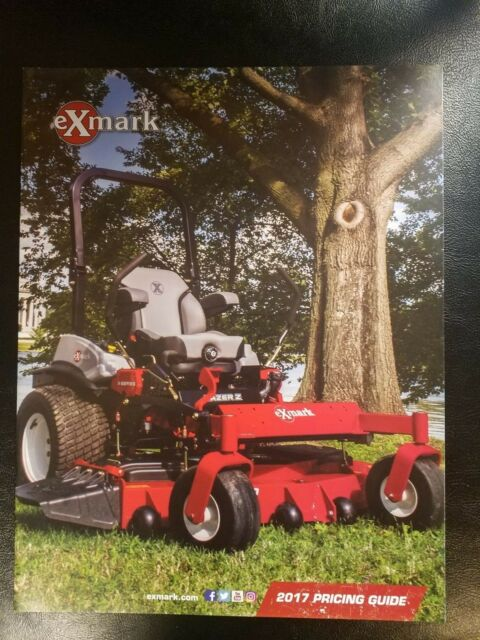 ExMark Zero Turn Mowers 2017 Pricing Guide 10 page Sales Brochure
