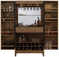 Braxton Wine Cabinet Home Bar Reclaimed Wood by American ...