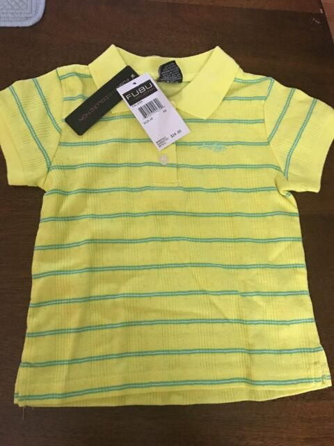 FUBU Polo Shirt Size 4t Yellow With Green Stripes for sale online eBay