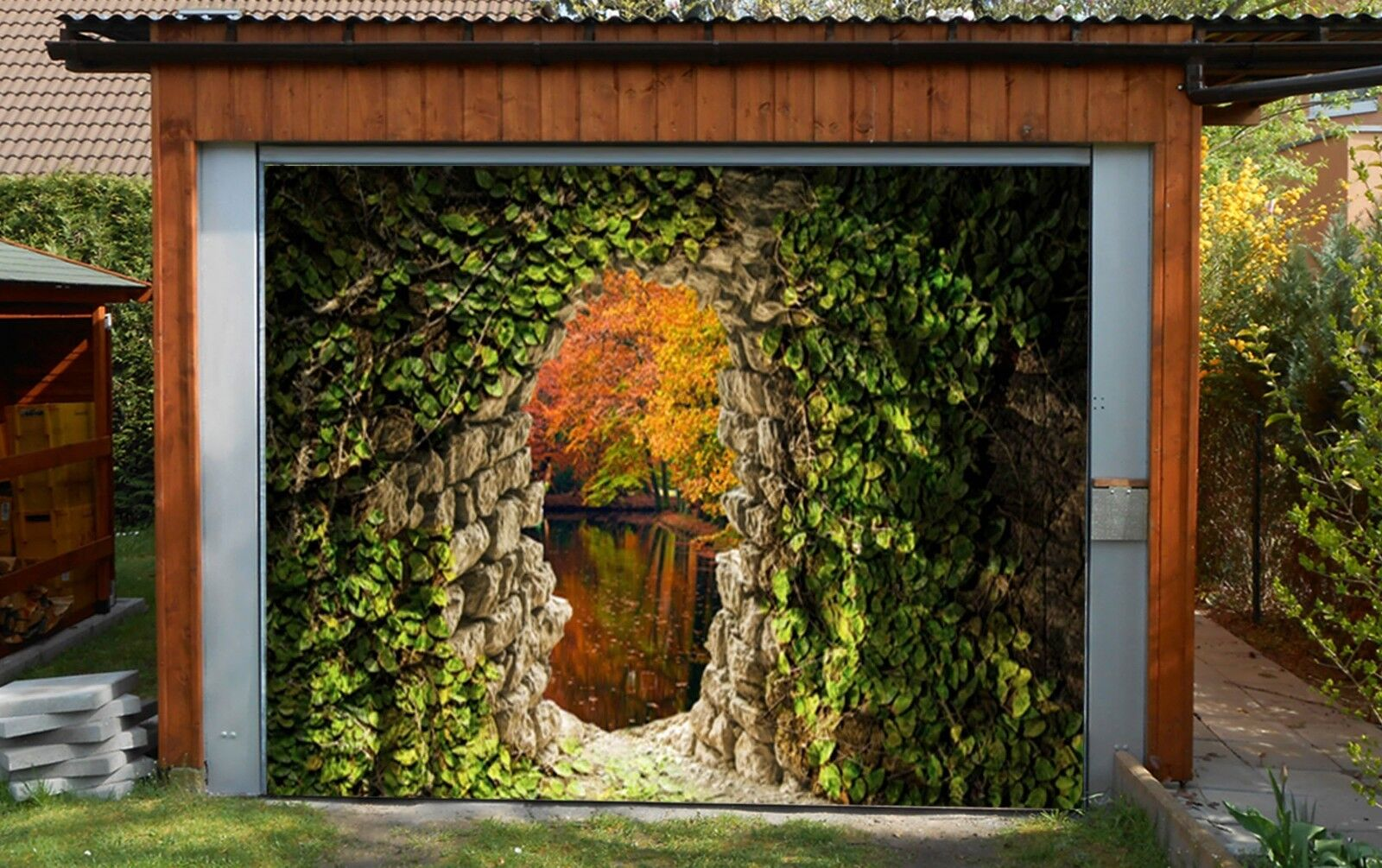 Pool Solarfolie 500 My Sol Guard Geobubble 3d Cave Garage Door Murals Wall Print Decal Wall Deco Aj