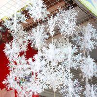 90PCS 11cm White Snowflakes Decorations Christmas Tree