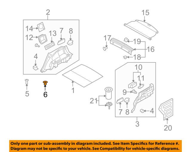Genuine Hyundai Parts Accent Elantra Sonata Grommet - Screw 14914