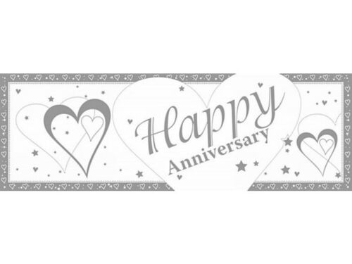 5ft Giant Style Hearts Happy Anniversary Banner Party Decoration eBay