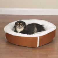 Slumber Pet Sherpa Lining Faux Suede Puppy Dog Bed Round ...