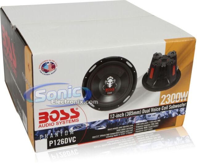 Boss PHANTOM P126DVC 1-Way 12in Car Subwoofer for sale online eBay