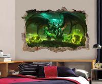 World Of Warcraft Legion Smashed Wall Decal Wall Sticker ...