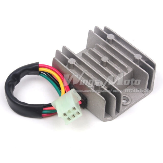 12V Voltage Regulator Rectifier 5 Wires For GY6 50 125 150cc Scooter