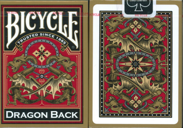 1 Deck Gold Dragon Back Bicycle Playing Cards 3rd Design in Series