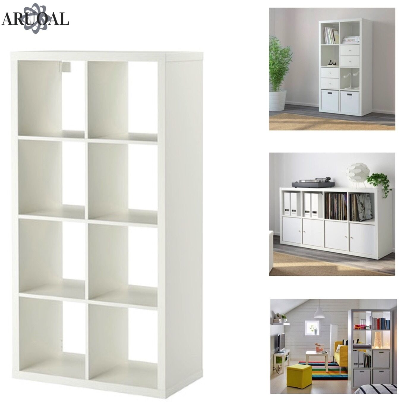 Ikea Kallax Weiß Книжный шкаф или полка Ikea Kallax Wei 8 Regal Display Aufbewahrung Regal Expedit